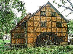 'Die Schleifmühle Schwerin 4/4' von Dirk h. Wendt bei artflakes.com als Poster oder Kunstdruck $18.03