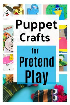 Kids can make cute puppets to spark imaginative play. Use everyday materials like socks and craft sticks to inspire fun and learning with homemade puppets. #puppetcrafts #craftsforkids #pretendplay Craft Sticks, Craft Stick Crafts, Crafts For Kids, Felt Finger Puppets, Hand Puppets, Homemade Puppets, Puppet Crafts, Small World Play, Imaginative Play