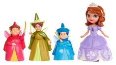 """WHO THE HELL IS PRINCESS SOPHIA AND WHY DOES SHE HAVE AURORA'S FAIRY GOD MOTHERS?!   Disney Sofia The First 3"""" Sofia and Fairy Godmothers Doll Pack Mattel http://www.amazon.com/dp/B00IVFCKAY/ref=cm_sw_r_pi_dp_aODFub0YH65M8"""