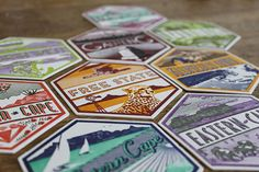 9 unique letterpresses South Africa coasterssouth africa