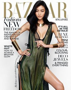 Harper's Bazaar Singapore March 2014 Cover (Harper's Bazaar Singapore) Loving Kathy Jeung's makeup