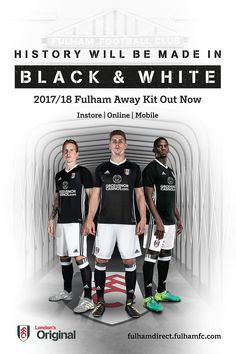 We devised a Fulham FC kit launch campaign for the season that built on their unique history as London's original football team. Fulham Fc, Kokeshi Dolls, New Relationships, Home And Away, Football Team, Teaser, Product Launch, Kit, Black And White