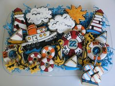 Nautical Cookies by East Coast Cookies, via Flickr
