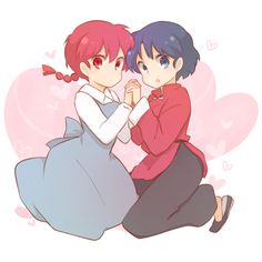 ranma 1/2, ranma saotome girl version, akane tendo