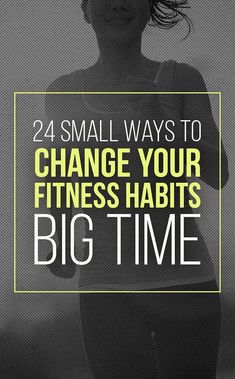 Workout Exercise 24 Tiny Ways To Change Your Fitness Habits Big Time - Seriously simple hacks that will get you in shape at your own pace. Fitness Motivation, You Fitness, Fitness Goals, Fitness Tips, Health Fitness, Exercise Motivation, Physical Fitness, College Fitness, Pink Fitness
