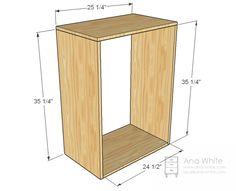 Ana Blanco | Construir una cesta de lavadero Dresser | Proyecto de bricolaje libre y fácil y Planes de muebles
