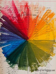 .. a colour wheel like this one ... as seen at : the land of lost luggage blog ...