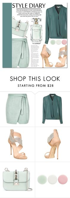"""Untitled #1018"" by samha ❤ liked on Polyvore featuring River Island, Glamorous, Giuseppe Zanotti, Valentino, Nails Inc., Elie Saab, women's clothing, women, female and woman"