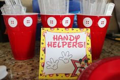 Mickey Mouse Birthday Party Handy Helpers by MySouthernSentiments, $3.00