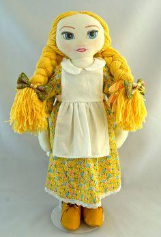 Cloth Doll. Gorgeous Rag doll. Doll for children. OOAK doll. Blond doll.