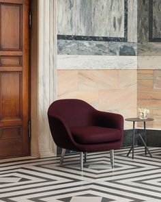 A comfy lounge chair in a prestigious looking space with marble flooring and wall cladding. Image by Nest. Nordic Interior, Wall Cladding, Interior Design Living Room, Room Interior, Nordic Design, Dream Decor, Living Room Bedroom, Interior Inspiration, Armchair