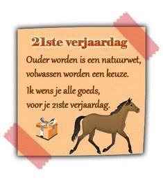 21ste verjaardag, volwassen worden is een keuze :-)