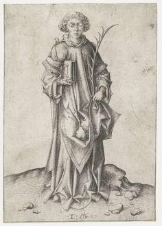 Israhel van Meckenem, (German artist of maybe Dutch parentage, 1445-1503): Heilige Stefanus