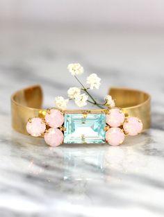 Swarovski Crystal Rose Quartz Serenity Bracelet & Collection