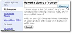 Upload a profile picture for Gmail