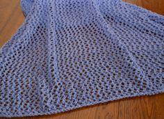 Eyelet Wrap Free Knitting Pattern - Easy Lace Eyelet Shawl Pattern