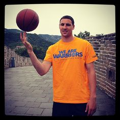 Klay Thompson representing the #Warriors at the Great Wall. Find out more about his China trip at warriors.com