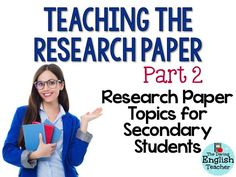 Secondary Education research paper topic ideas