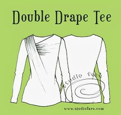 well-suited: Pattern Puzzle - Double Drape Tee*
