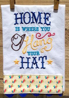 Home Is Where You Hang Your Hat by seechriscreate on Etsy
