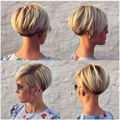 blonde lang pixie frisur idee