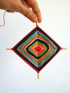 I used to love making these. Cute ornament idea.