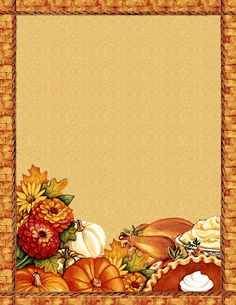 free thanksgiving_blank recipe page Printable Recipe Cards, Printable Paper, Page Boarders, Recipe Paper, Note Paper, Paper Cards, Journal Cards, Fall Crafts, Scrapbook Paper