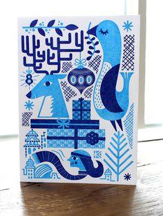KCCVA Holiday Card by Tad Carpenter, via Behance