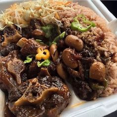 Jamaican Oxtail Stew & Rice 'n' Peas. Beef Oxtail, Jamaican Oxtail, Jamaican Cuisine, Jamaican Dishes, Jamaican Recipes, Recipe For Oxtails, Jamaican Stew Peas, Guyanese Recipes, French Toast