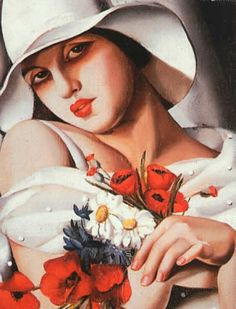 My 50 Favorite Art Masterpieces of All Time.  This is by one of my favorite artists Tamara Delempicka.  Famous deco artist