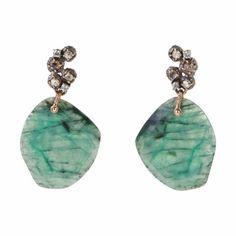 Federica Rettore Emerald & Diamond Large Drop Earrings at Barneys.com - gorge!