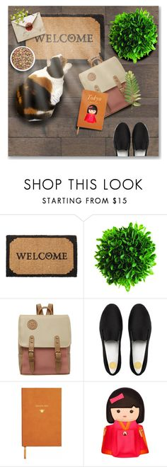 """""""Untitled #81"""" by preciouspearll ❤ liked on Polyvore featuring interior, interiors, interior design, home, home decor, interior decorating, Smith & Hawken, FitFlop, Sloane Stationery and Kate Spade"""
