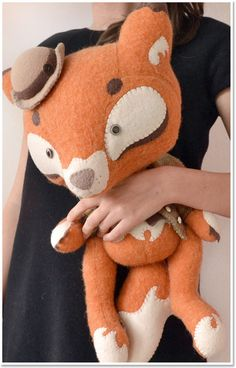 Handmade Toys, Softies, Plush, Animals, Fox by Marie Chou What a lovely face...