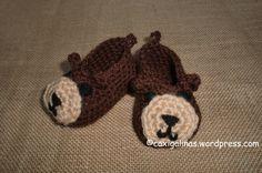 Free Crochet Monkey Baby Booties Pattern