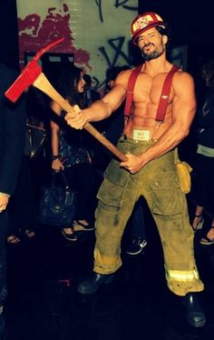joe manganiello - I think my panties just caught fire! Thank god he is a fireman *wink wink*