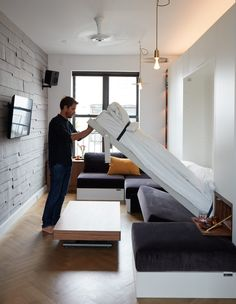 Graham Hill is once again outdoing himself, this time with the second LifedEdited apartment with 350-square feet of flexible space.