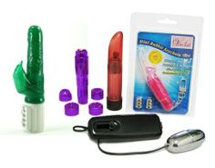 "Osaki Ultimate Green ""Venla Bundle"" Adult Toy Sex Kit by Golden Triangle. $50.80. Includes a Venla Mini Rabbit Keychain Vibrator ($24.99 Retail Value!) with Ultra Powerful Vibrating Rabbit Ears!. Includes a Pipedreams Waterproof Mini-Mite Vibrator, by PipeDreams -$24.99 Retail Value! Recommended by Dr. Sue Johansen from the Oxygen Network! Incredibly Small & Powerful (Packaged in a poly bulk bag). Includes a Crystal Clear Vibrator Massager $19.99 Retail Value! Discreet choice ..."