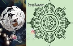 Zdjęcie użytkownika Crochet art and craft. Art Au Crochet, Crochet Ball, Crochet Motifs, Crochet Chart, Thread Crochet, Irish Crochet, Crochet Doilies, Crochet Flowers, Crochet Christmas Decorations