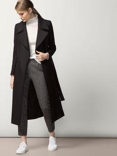 LONG BLACK COAT | massimo dutti