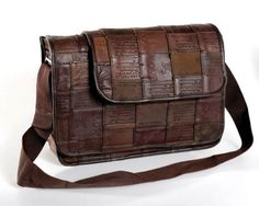 Handmade, Eco Friendly, Fair Trade, Upcycled, Indian Large Messenger Bag