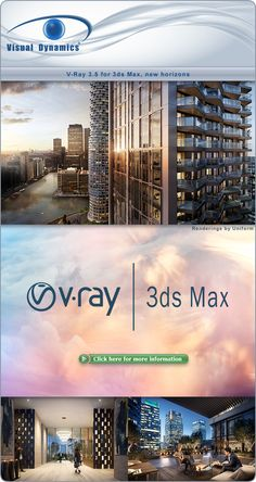V-Ray for Max, new horizons Light Architecture, School Architecture, Autocad, 3d Max Tutorial, Vray Tutorials, Rendering Software, 3d Max Vray, Autodesk 3ds Max, Light Camera