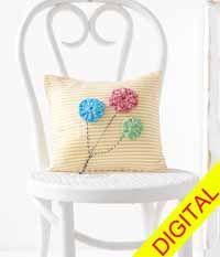 Party #Pillow Digital Crochet Pattern from Love of #Crochet magazine, Spring 2015