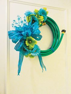 Fabulous Spring Garden Hose Wreath DIY By Nicholas Rosaci