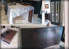 Before - Dark brown furniture Dark Brown Furniture, Decoupage, Desk, Handmade, Home Decor, Table Desk, Craft, Interior Design, Offices