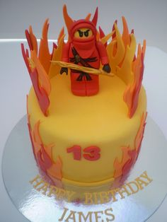 Lego Ninjago Cake, via Flickr. Ninja Birthday, Leo Birthday, 6th Birthday Parties, Birthday Ideas, Lego Ninjago Cake, Ninjago Party, Lego Cake, Boy Scouts, Party Cakes
