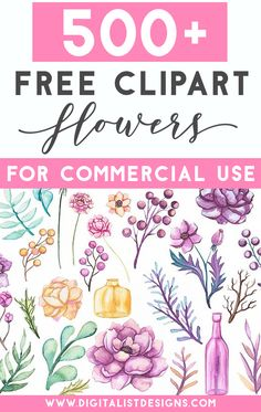 Over 500 free flower clipart images for commercial use. Use these floral clipart graphics for many craft projects including DIY wedding invitations, sublimation, gift tags, and more. via graphics Free Flower Clipart Images Flower Clipart Images, Free Flower Clipart, Cliparts Free, 2 Clipart, Image Clipart, Flower Svg, Flower Images, Free Clip Art Flowers, Free Clipart Images