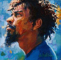 Cabeça do Jorge. Óleo sobre tela. Luiz Vilela (Boa Esperança, Minas Gerais, Brasil, 1965 - ).