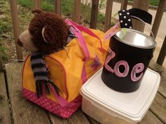 Slumber Party Gear with the GIFT wrapped in a personalized paint can!  #laurakellyart