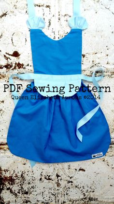 Princess CINDERELLA Sewing PATTERN. Disney inspired Child Costume Apron. Dress up. Play. Photo shoot prop. Fits 2t, 3t, 4, 5, 6, 7, 8. Girls