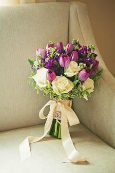 Stunning tulip bouquet by Cole Dewey Designs. Photo by Amanda Watson Photography. #bridesofoklahoma #wedding #inspiration #bouquet #oklahoma